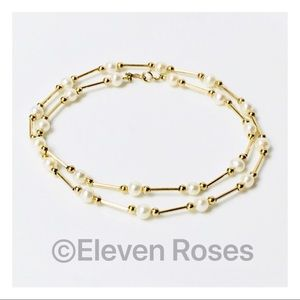 Jewelry - 14k Gold Pearl & Bead Necklace